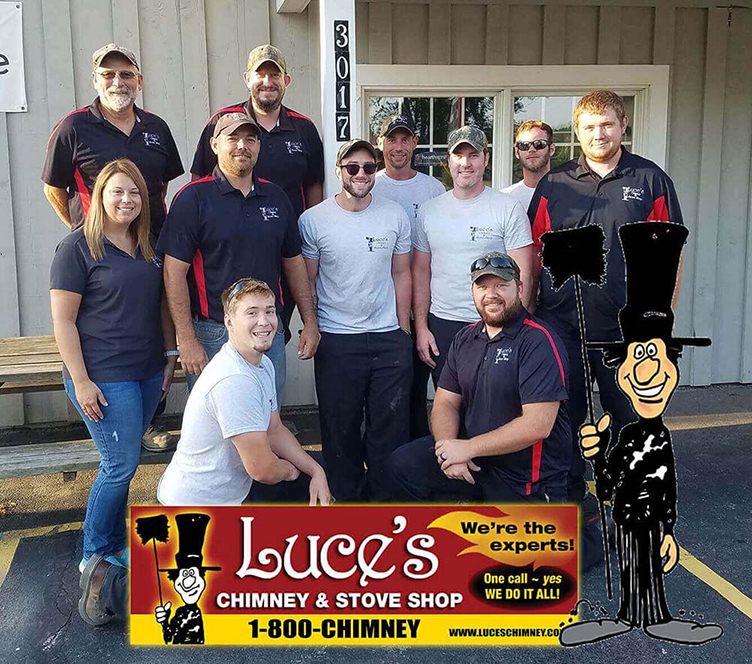 Luce's Chimney & Stove Shop Chimney Sweeping & Chimney Services Truck