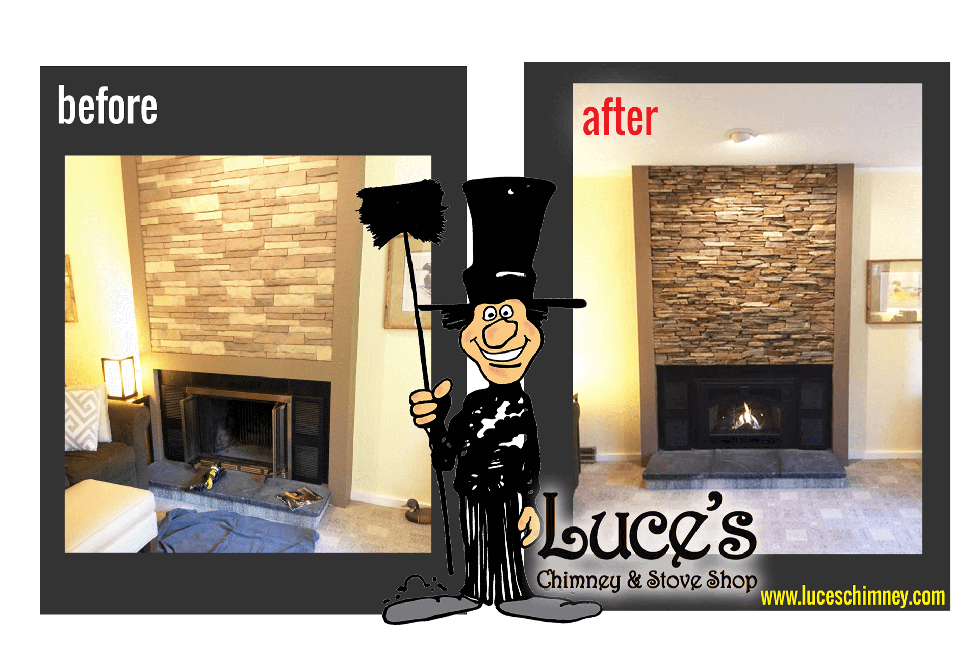 Fireplace Remodeling Construction Luce 39 S Chimney Stove Shop