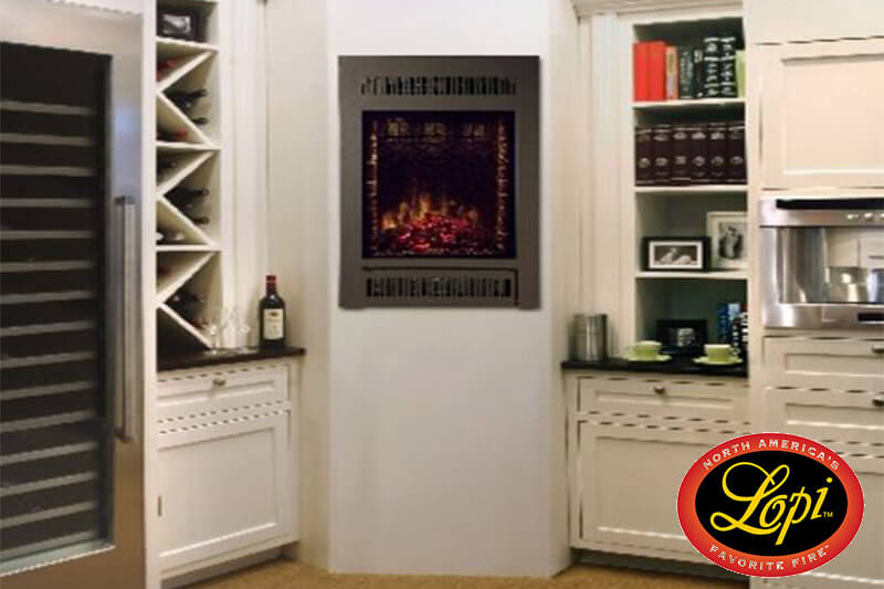 Plug in and feel the heat. Electric fireplaces & heaters from Lopi, available at Luce's Chimney and Stove Shop, serving Ohio, Michigan and Indiana.