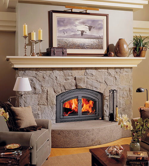Wood fireplace insert available at the fireplace store at Luce's Chimney and Stove Shop.