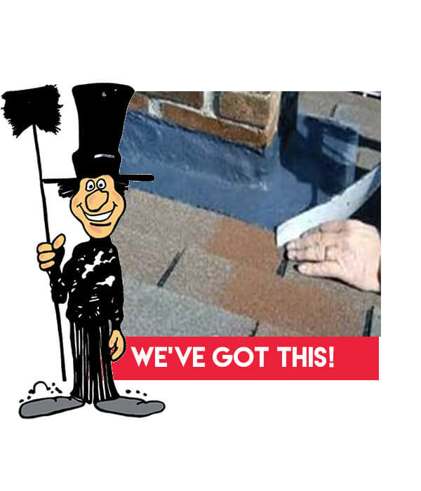 How to correctly flash chimney, from Luce's Chimney & Stove Shop, CSIA certified chimney flashing repair pros.