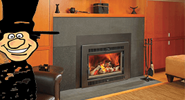 Gas fireplace inserts sales & installation from Luce's Chimney and Stove Shop in Swanton.