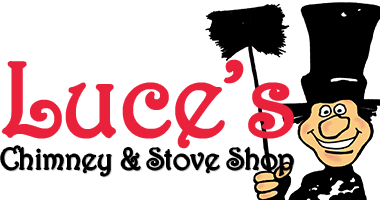 Luce's Chimney and Stove Shop logo, certified chimney flashing repair, serving the areas of Ohio, Michigan and Indiana.