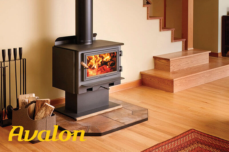 Avalon wood burning stoves for every room in your home, available at Luce's Chimney and Stove Shop, serving Ohio, Michigan and Indiana.