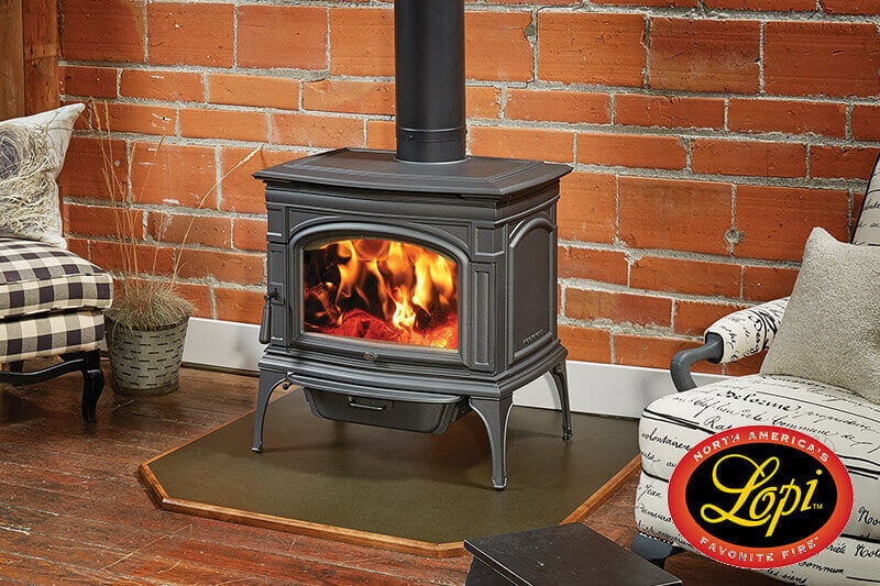 Lopi wood burning stoves, quality USA made heating stoves available at Luce's Chimney and Stove Shop, serving Ohio, Michigan and Indiana.