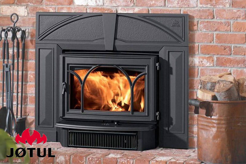Jotul gas fireplaces available at Luce's Chimney & Stove Shop, featuring sales and installation for Ohio, Michigan and Indiana areas.